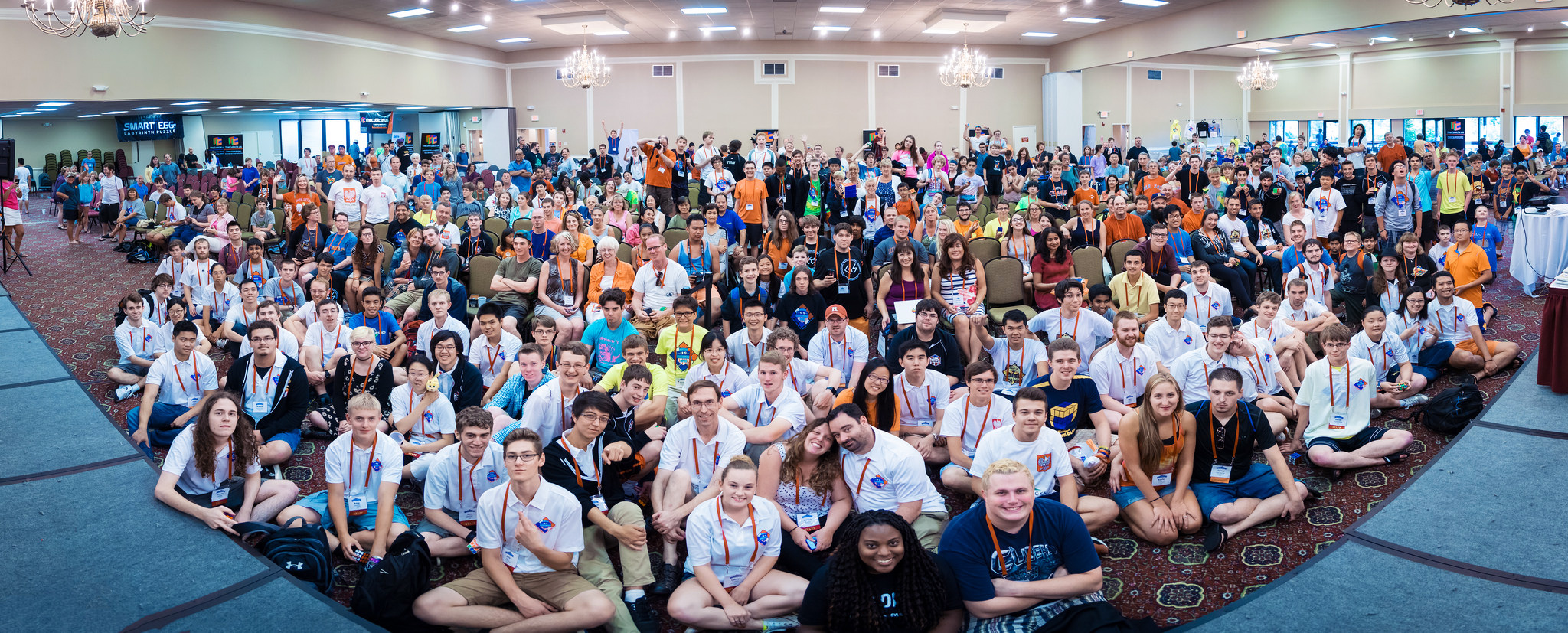 Competitors, spectators, and staff at Nationals 2015